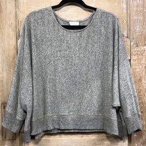 Vestique brown fleck scoop neck sweater - SMALL